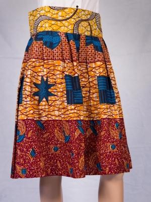 Akila African Print  Skirt in Skirts